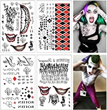 Lim 4 Hojas Grandes SS Tatuaje Temporal HQ & The Joker Sticker 80 + Tats Traje/Cosplay Party Accesorios