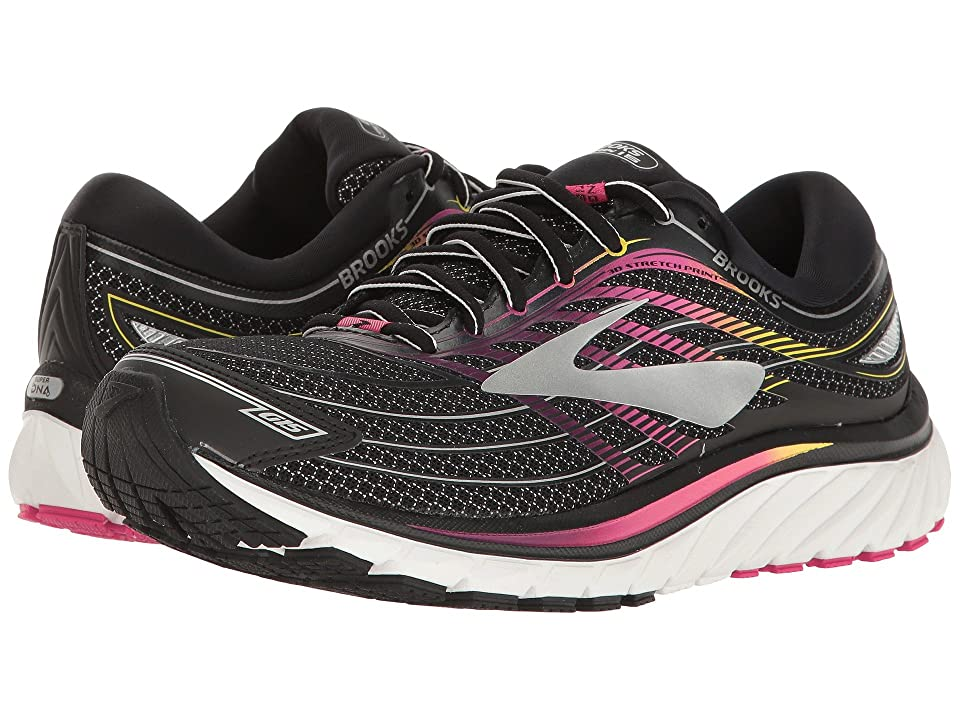 Brooks Glycerin(r) 15 (Black/Pink Peacock/Plum Caspia) Women