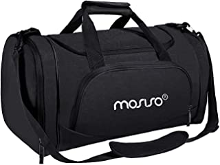 MOSISO Water Resistant Gym Sports Dance Travel Weekender Duffel Bag with Shoe Compartment, Black