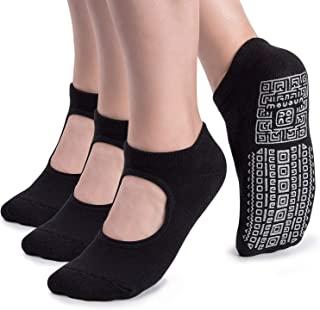 unenow, Calcetines de yoga antideslizantes para mujer con cojín para pilates, barre, casa