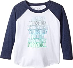 Chaser Kids - Vintage Jersey Long Sleeve Baseball T-Shirt (Toddler/Little Kids)