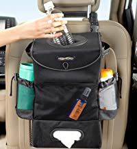 High Road StashAway Car Seat Back Organizer with Trash Can, Tissue and Bottle Holders