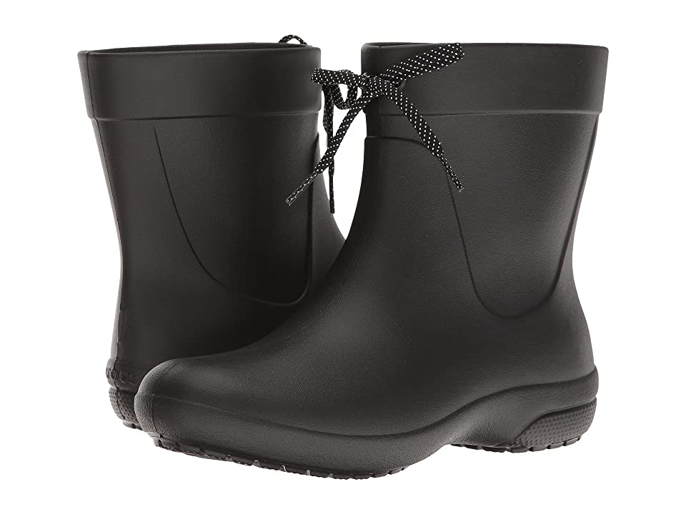 Crocs Freesail Shorty Rain Boot (Black) Women