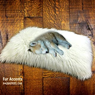 Dog Bed, Padded, Shag, DogNappers Brand, Plush Faux Fur Dog Bed, Cat Ma,Soft Padded Shaggy Pet Bed,Mongolian Fur, 4 Colors, Sizes