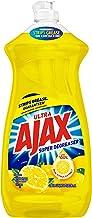 Ajax Dishwashing Liquid Dish Soap Yellow Lemon