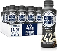 Fairlife Core Power Elite High Protein Shake 42g, Vanilla, Ready To Drink for Workout Recovery, 14 FL Oz Bottles 12 Pack