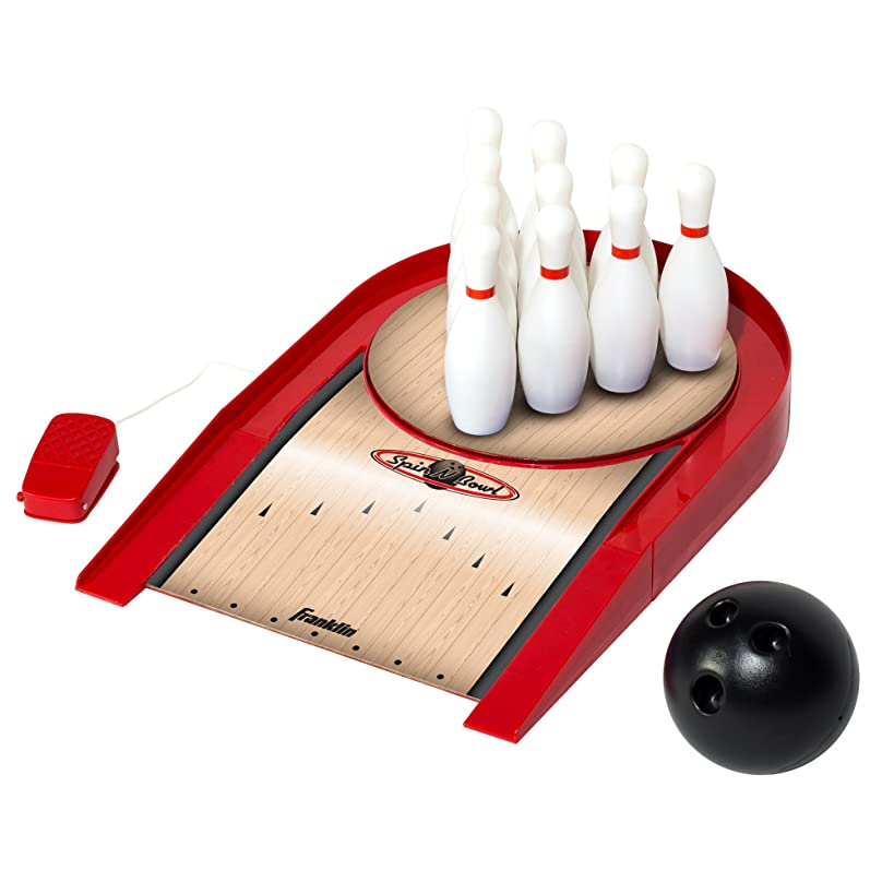 Franklin Sports Spin N Bowl Bowling, Red, One Size