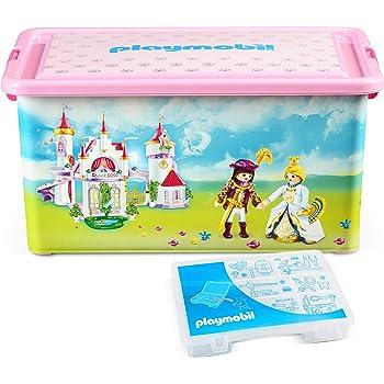 Playmobil 064662 - Caja con compartimentos para juguetes, diseño de palacio de princesa: Amazon.es: Bebé