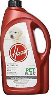 Hoover PETPLUS Concentrated Formula, 64oz Pet Stain and Odor Remover, AH30320, 64 oz, Red