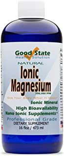 Good State | Ionic Magnesium| Natural | Nano Sized Mineral Technology | Professional Grade | Supports Healthy Chemical & Enzymes Reactions | 192 Servings | 16 Fl oz Bottle
