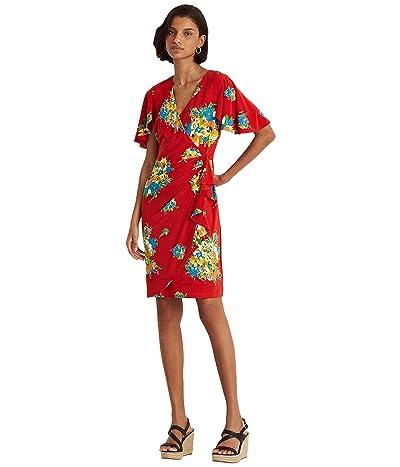 LAUREN Ralph Lauren Floral Ruffle-Trim Jersey Dress