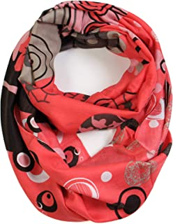Vibrant Colored Artistic Painting & Graphic Print Infinity Fashion Scarf