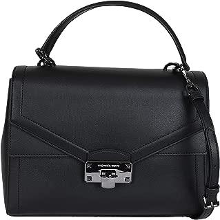 Michael Kors Kinsley Leather Satchel Crossbody Bag