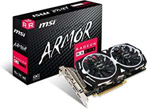 MSI Gaming Radeon RX 570 256-bit 8GB GDRR5 DirectX 12 VR Ready CFX Graphcis Card (RX 570 ARMOR 8G OC) (Renewed)