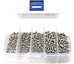 iExcell 125 Pcs M3 x 4mm/6mm/8mm/10mm/12mm Stainless Steel 304 Hex Socket Button Head Cap Screws Kit