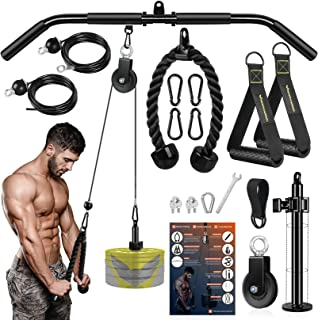 RENRANRING Fitness LAT and Lift Pulley System Gym -...