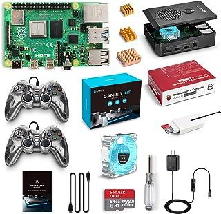 LABISTS Raspberry Pi 4B 4GBゲームキットコントローラー/MicroSDHCカード64G/NOOBSシステムプリインストール/カードリーダ /5.1V/3A Type-C スイッチ付電源/MicroHDMI-to-HDMIケーブルライン/三つヒートシンク/簡単に取り付けケース/日本語取扱説明書/24ヶ月保証