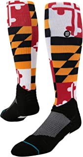 M759B17ORI Men's Dmnd Pro Orioles Flag Sock