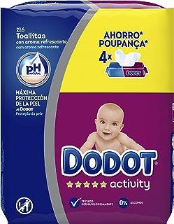 comprar comparacion Dodot Activity -Toallitas para bebé, 4 paquetes de 54 unidades, Total: 216 toallitas