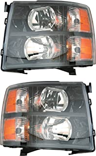 Headlight Headlamp For Chevrolet Chevy Silverado Driver Left And Passenger Right Side Pair Set 2007 2008 2009 2010