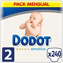 DODOT Sensitive Pañales Talla 2, 240 Pañales, 4-