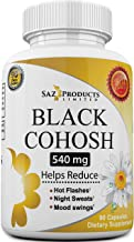 Whole Root Black Cohosh Menopause Complex - Relieves Hot Flashes Night Sweats Mood Swings Sleeplessness – 1...