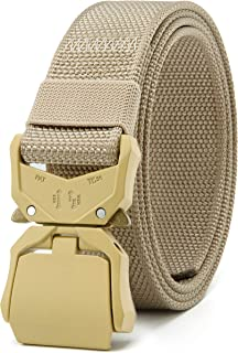 "Chaoren Mens Quick Release Tactical Belt 1.5"", Casual Military Riggers Work Belts for Men - - Medium"