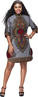 Women African Print Shirt Dashiki Traditional National Clothing