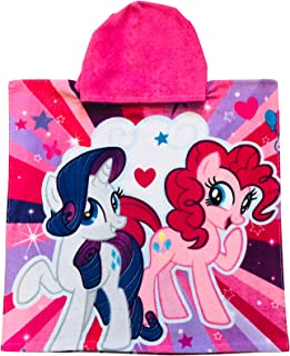 My Little Pony Pinkie Pie and Rarity Front, Rainbow Dash,Twilight Sparkle Hooded Poncho Towel