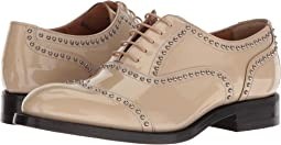 Shine Met Studded Patent Oxford