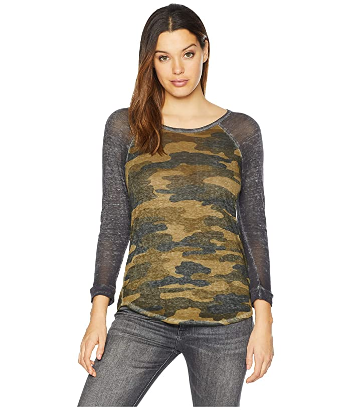 Lucky Brand  Camo Tee (Green Multi) Womens T Shirt