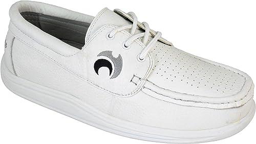 Henselite , , Chaussures de Bowling pour Homme Blanc Blanc 47