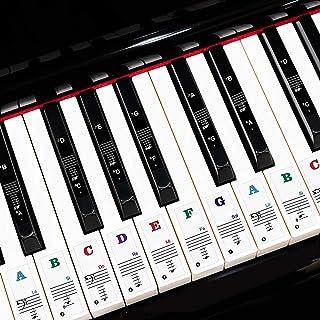 Jinyun Piano Keyboard Letter Stickers for Kids Beginners 49/