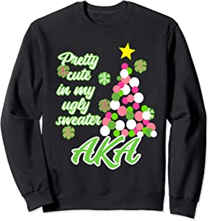 AKA Christmas Sweatshirt for Sorority Alpha Pretty Girl