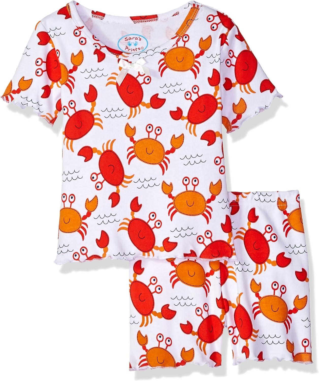 Sara's Prints Girls' Fitted Short Pajamas