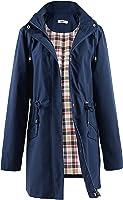 Polydeer Women's Lightweight Waterproof Raincoat Breathable Windbreaker Jacket Active Outdoor Hooded Trench Coats Long...