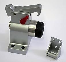 Lienbacher TS-83030 Deurstopper, grijs, massief aluminium gietijzer, vloermontage, met vergrendeling