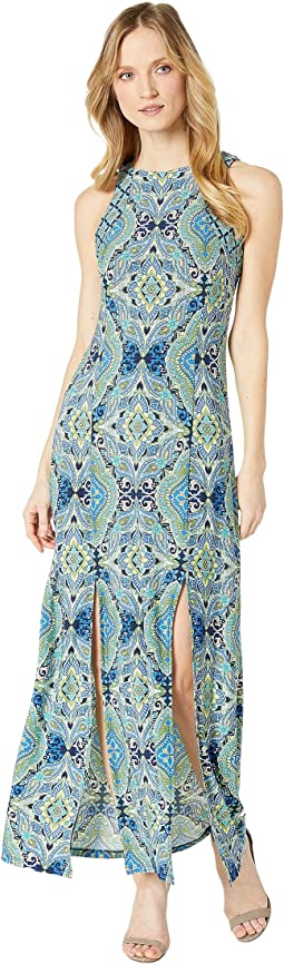 Technicolor Tile Maxi Dress w/ Slits