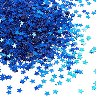 Juvale 7 Ounces Metallic Star Party Confetti for Table Decor, DIY Crafts, Blue, 0.1 Inches