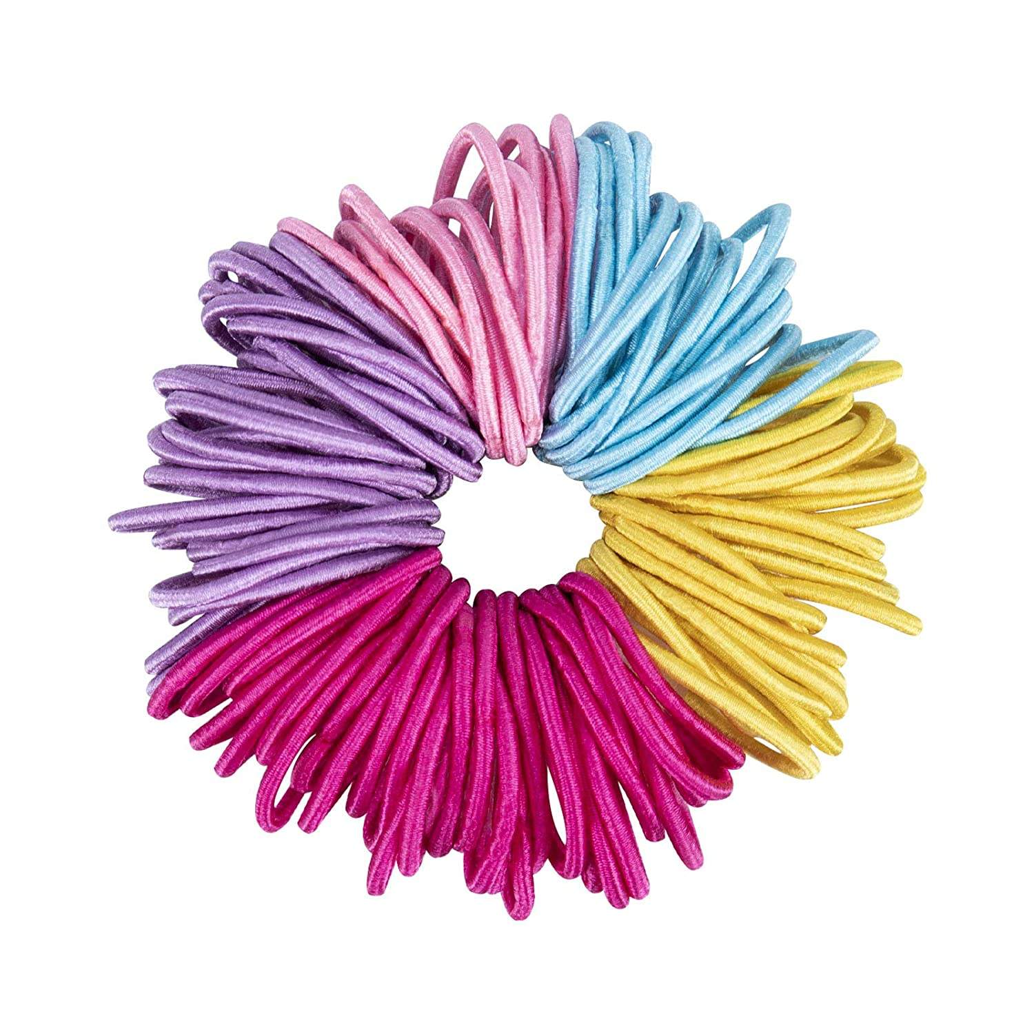 100 Pcs Baby Girls Hair Ties, No Crease Soft Hair Ropes Elastic Rubber Bands, Hair Accessories for Kids Girls Infants Toddlers