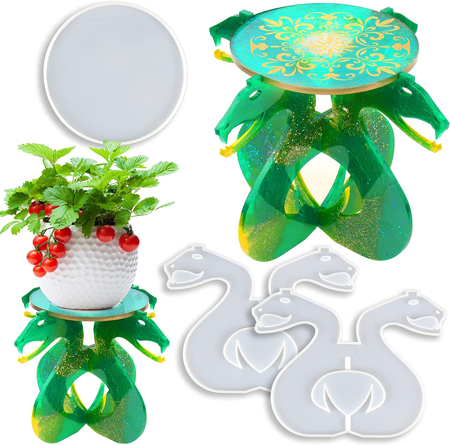 Resin Molds Sales Silicone Potted Plants Stand Ho Dragon Shape service Unique