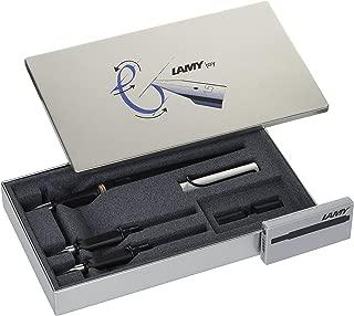 LAMY Joy AL 011 Calligraphy Set in Black and Aluminium with Black Ink Cartridges
