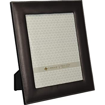 Lawrence Frames Dark Brown Leather 8 by 10 Picture Frame