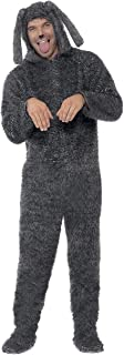 Smiffy's Men's Fluffy Dog Costume, Hooded All in One, Party Animals, Serious Fun, Size L, 23605
