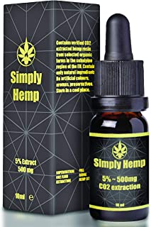 Gotas de aceite de cáñamo Simply Hemp 5% ~ 500 mg | 10 ml |
