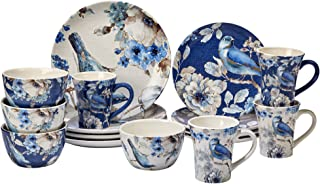 Certified International 89116 Indigold 16 pc. Dinnerware Set, Service for 4, Multicolored
