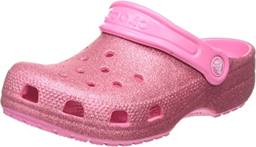 Crocs Unisex-Child Kids' Classic Clog | Glitter Girls | Slip on Shoes