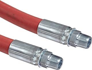 Goodyear EP Flexsteel 250 - Conjunto de manguera de vapor de goma roja de vapor, conexión macho NPT, 250 PSI presión máxim...