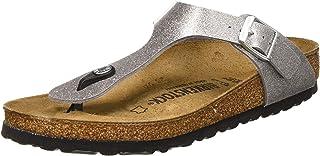 Birkenstock Tongs Gizeh Birko-flor Glitter Silver, Women's Sandal, Glitter Silver, 4.5 UK (37 EU)