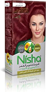 Nisha Cream Hair Color Rich Bright Long Lasting Hair Colouring For Ultra Soft Deep Shine 100% Grey Coverage Conditioning W...